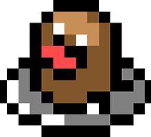 Pokemon 8-Bit Pixel Diglet 050 by slr06002