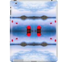 Red sunset buoys parallels iPad Case/Skin