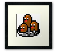 Pokemon 8-Bit Pixel Dugtrio 051 Framed Print