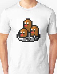 Pokemon 8-Bit Pixel Dugtrio 051 Unisex T-Shirt