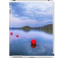 Red sunset buoys iPad Case/Skin