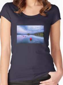 Red sunset buoys Women's Fitted Scoop T-Shirt