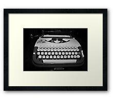 Typewriter Framed Print