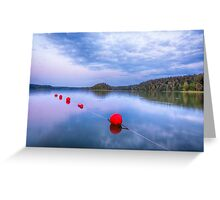 Red sunset buoys Greeting Card