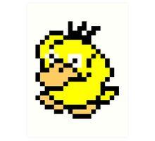 Pokemon 8-Bit Pixel Psyduck 054 Art Print