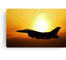 Flying Military Jet, HD Photograph Canvas Print