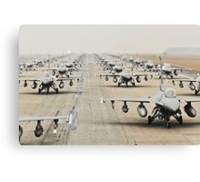 Fighter Jets Lined Up, HD Photograph Canvas Print