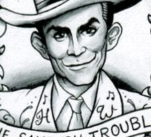 Hank Williams portrait tee Sticker