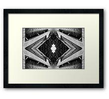 Zigzag Pier Illusion C Framed Print