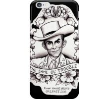 Hank Williams porrait iPhone Case/Skin