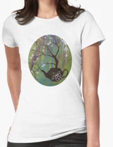 Tea Blossom Womens Fitted T-Shirt