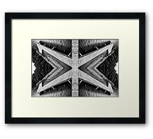 Zigzag Pier Illusion B Framed Print