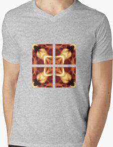 Fire - Quartered Mens V-Neck T-Shirt