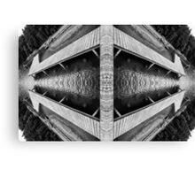 Zigzag Pier Illusion A Canvas Print