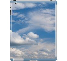 Sunny cirrus and cumulus cloudscape  iPad Case/Skin