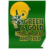 Green & Gold Poster