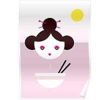 Chinese Girl with Miso Soup Poster