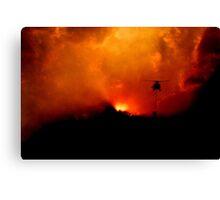 Bushfire Sun Canvas Print