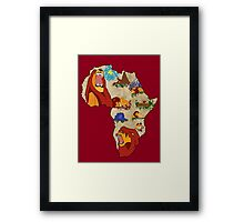 Simba's Journey Framed Print