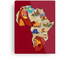 Simba's Journey Metal Print