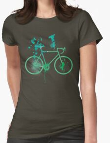 Water Color Bike Womens Fitted T-Shirt