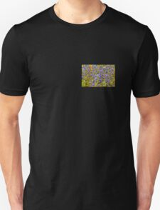 Blue Violet World Of Flowers T-Shirt