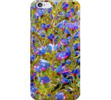 Blue Violet World Of Flowers iPhone Case/Skin