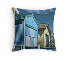Longbeach Boatsheds Throw Pillow