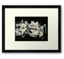 Glowing spaceships vibrating at high frequency Framed Print