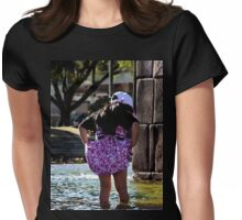 Splashing In San Blas Fountain Womens Fitted T-Shirt