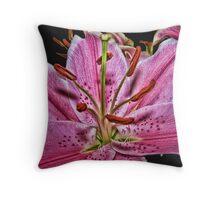 Pink Lilium Throw Pillow