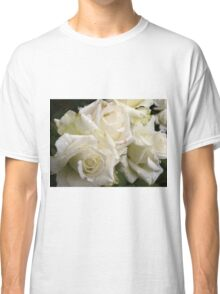 Close up of white roses 4 Classic T-Shirt