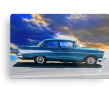 1957 Chevrolet 'Cruz'n Bluz' Bel Air Coupe Metal Print