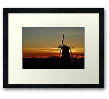 "Saying ""Good night"" the Dutch way Framed Print"