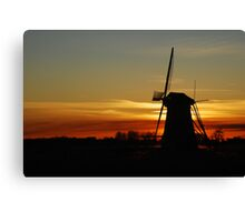 "Saying ""Good night"" the Dutch way Canvas Print"