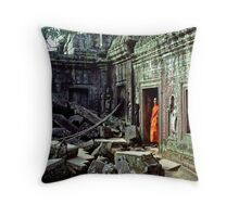 The Monk Throw Pillow