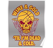 Wine & Gold Poster