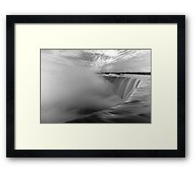 Niagara Falls black and white Framed Print