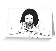 Girl photographer Greeting Card