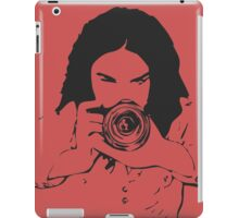 Girl photographer iPad Case/Skin