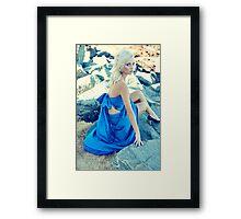 Blue Dress Framed Print