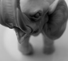 Angry elephant model by Arve Bettum