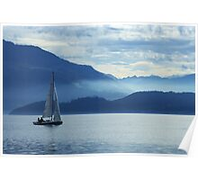 sailing on lake Zug, Switzerland Poster