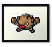Pokemon 8-Bit Pixel Primeape 057 Framed Print