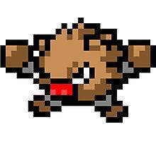 Pokemon 8-Bit Pixel Primeape 057 Photographic Print