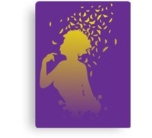 Girl with butterflies Canvas Print