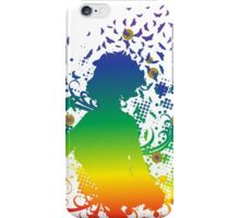 Girl with butterflies 2 iPhone Case/Skin