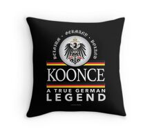 'Koonce German Legend' T-Shirts, Hoodies, Accessories and Gifts Throw Pillow
