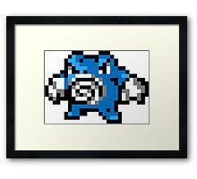 Pokemon 8-Bit Pixel Poliwrath 062 Framed Print