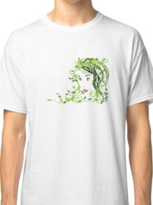 Girl with floral hair Classic T-Shirt